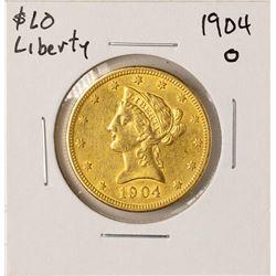 1904-O $10 Liberty Head Eagle Gold Coin