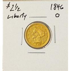 1846-O $2 1/2 Liberty Head Quarter Eagle Gold Coin