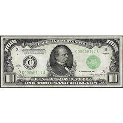 1934A $1,000 Federal Reserve Note Philadelphia