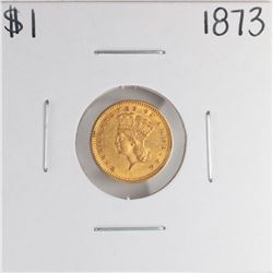 1873 $1 Indian Princess Head Gold Dollar Coin