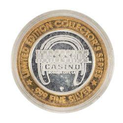 .999 Silver Horseshoe Bossier City, LA $10 Casino Limited Edition Gaming Token