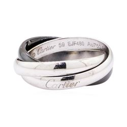 Cartier 18KT White Gold and Ceramic Rolling Ring