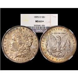 1895-O $1 Morgan Silver Dollar Coin NGC MS61+