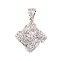 14KT White Gold 2.01 ctw Diamond Pendant