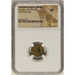 Arcadius, 383-408 AD Ancient Eastern Roman Empire Coin NGC XF