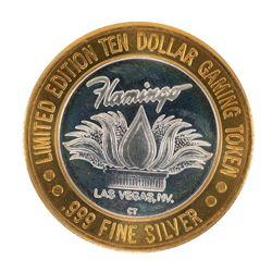 .999 Silver Flamingo Las Vegas $10 Casino Limited Edition Gaming Token