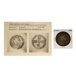 1695 Great Britain Crown Coin ANACS Graded