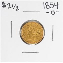 1854-O $2 1/2 Liberty Head Quarter Eagle Gold Coin