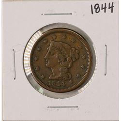 1844 Braided Hair Large Cent Coin
