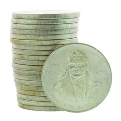 Roll of (20) Brilliant Uncirculated 1979 Mexico 100 Pesos Silver Coins
