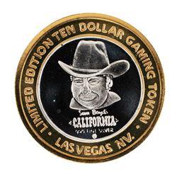 .999 Silver Sam Boyd's California $10 Casino Limited Edition Gaming Token