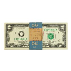 Original Pack of (25) Consecutive 1976 $2 Federal Reserve Notes Richmond