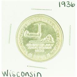 1936 Wisconsin Territorial Centennial Commemorative Half Dollar Coin