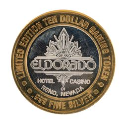 .999 Silver Eldorado Hotel and Casino $10 Casino Limited Edition Gaming Token