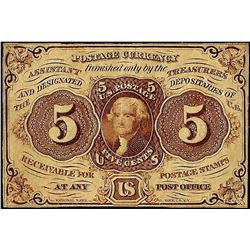 July 17, 1862 Five Cent First Issue Fractional Currency Note