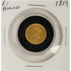 1859 $1 Indian Princess Head Gold Coin