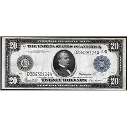 1914 $20 Federal Reserve Note Cleveland