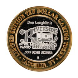 .999 Silver Riverside Resort Casino Laughlin, NV $10 Limited Edition Gaming Toke