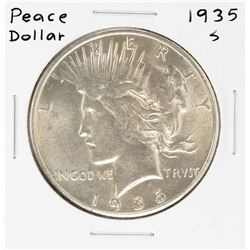 1935-S $1 Peace Silver Dollar Coin