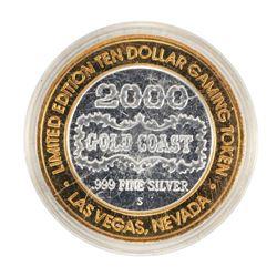 .999 Fine Silver Gold Coast Las Vegas, Nevada $10 Casino Limited Edition Gaming