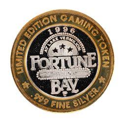 .999 Silver Fortune Bay Resort $10 Casino Limited Edition Gaming Token