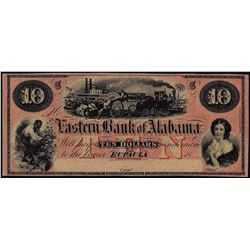 1800's $10 Western Bank of Alabama Obsolete Note