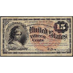 March 3, 1863 Fifteen Cents Fourth Issue Fractional Note