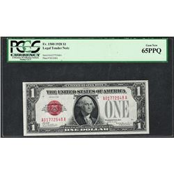1928 $1 Legal Tender Note Fr.1500 PCGS Gem New 65PPQ