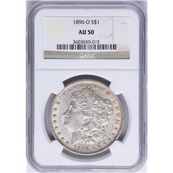 1896-O $1 Morgan Silver Dollar Coin NGC AU50