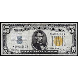 1934A $5 North Africa Silver Certificate WWII Emergency Note