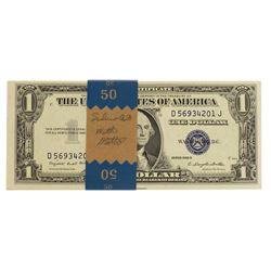 Pack of (50) Consecutive 1935G w/ Motto $1 Silver Certificate Notes