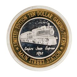 .999 Silver Main Street Station Las Vegas, NV $10 Limited Edition Casino Gaming
