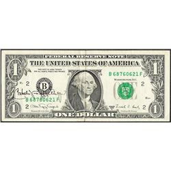 1988A $1 Federal Reserve Note with Courtesy Autograph