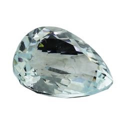6.17 ct.Natural Pear Cut Aquamarine