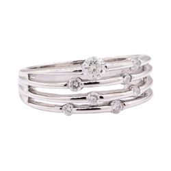 0.36 ctw Diamond Band - 14KT White Gold