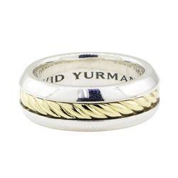 David Yurman Band - 18KT Yellow Gold and Silver