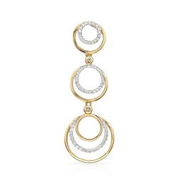 14k Two Tone Gold 0.28CTW Diamond Pendant, (I2/H-I)