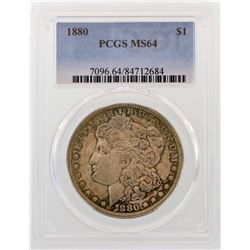 1880 $1 Morgan Silver Dollar Coin PCGS MS64