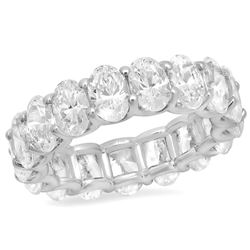 14K White Gold 5.54CTW Diamond Ring, (VS2/G-H)