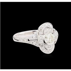1.04 ctw Diamond Ring - 18KT White Gold