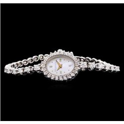 Tourneau 14KT White Gold Diamond Ladies Watch