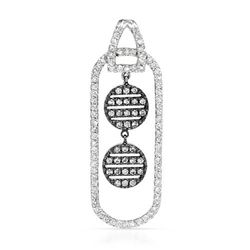 18k White Gold 1.10CTW Diamond Pendant, (SI1-SI2/G-H)