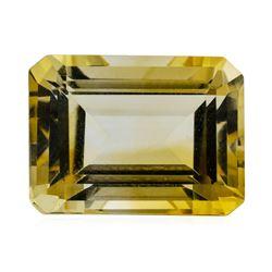 11.36 ct.Natural Emerald Cut Citrine Quartz