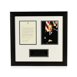 Gerald R. Ford Signed Letter Display PSA Certified