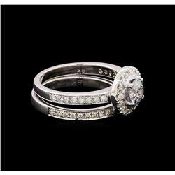 1.30 ctw Diamond Ring - 18KT White Gold