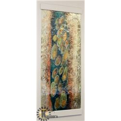 LARGE DESIGNER PENACHE GLASS WALL ART.