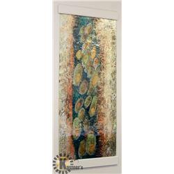 LARGE DESIGNER PENACHE GLASS WALL ART.
