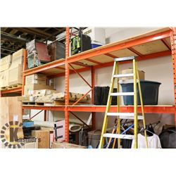 SECTION OF PALLET RACKING INCLUDES 6 UPRIGHTS AND
