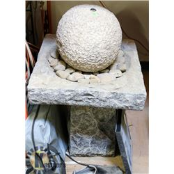 STONE STYLE WATER FOUNTAIN WITH PUMP.