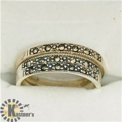 SET OF 3 SILVER MARCASITE RINGS